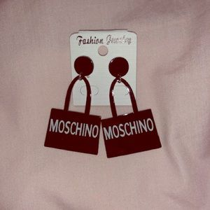 Moschino Black Earrings